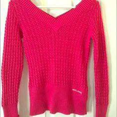 DKNY pink knitted v-neck sweater size xs Perfect condition pink v-neck knitted sweater size xs. Wore only once DKNY Sweaters V-Necks