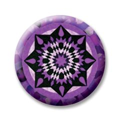 """Del Sol 5 (Magnetic) Design insert  that fits into 1""""Magnabilities interchangeable jewelry."""