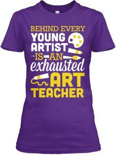 Exhausted Art Teacher | Teespring