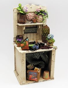 Beautiful Tall Potting Bench By Laura   $0.00 : Larrianneu0027s Small Wonders, Delectable  Miniatures For Discerning
