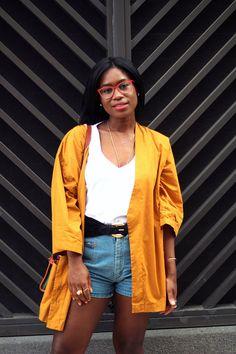Vintage Kimono Top, Zara T shirt, Vintage Shorts, Vintage Liz Claiborne Bag, Vintage 80's Belt, Zara Slides, Marc Jacobs Eyeglasses Someone can finally see, and I couldn't be happier. I've always w...