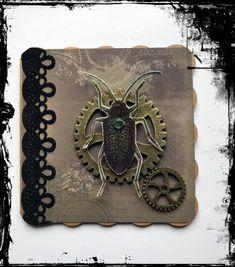#Grußkarte #Gothic #Steampunk #Vintage #Käfer #Zahnrad #VivelaVigo Steampunk, Gothic, Wallet, Vintage, Cards, Goth, Vintage Comics, Steam Punk, Purses