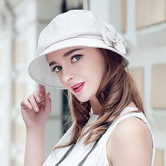 210359b0742 Fashion ladies flower bucket hat UV protection bowler sun hats