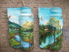 Ateliê Articulando Artes: Pintura em telha, pintura em madeira, MDF, mandala...