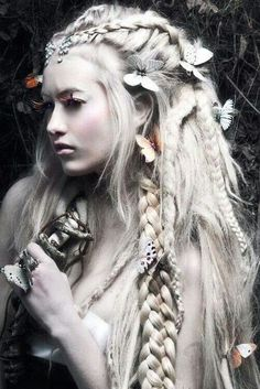 Fairy hair braids for fun, cosplay, prom or weddings!