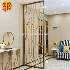 Stainless Steel Rose Gold Wall Art Hanging Screens Fashionable Room Divider Living Room Partition , Find Complete Details about Stainless … Trendy Living Rooms, Living Room Partition, Room Interior Design, House Design, Screen Design, Partition Screen, Wall Partition Design, Room Design, Metal Screen