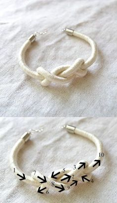 Interesting knot bracelet
