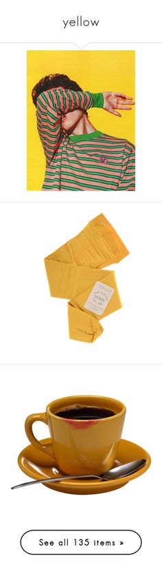 """""""yellow"""" by milktop ❤ liked on Polyvore featuring yellow, Color, colour, aesthetic, people, intimates, hosiery, tights, gerbe stockings and gerbe"""