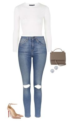"""Untitled #1443"" by quaybrooks ❤ liked on Polyvore featuring Topshop, Givenchy and Kobelli"