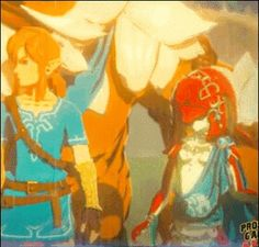 MIPHA IS SO CUTE I FREAKIN LOVE HER! Her and her crush on link is so adorable.