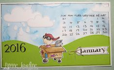 Ruby-Dooby-Doo Crafts: January 2016 calendar page