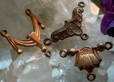 3 Tiny Old Die Struck Cast Art Deco Victorian by VintageBrassShop