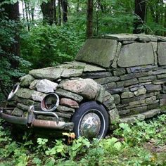 Is it a dry stone wall, a piece of garden art, or just a folly?Built in it. - - Is it a dry stone wall, a piece of garden art, or just a folly?Built in it really is a classic. Garden Art, Garden Design, Garden Slug, Rocks Garden, Garden Whimsy, Big Garden, Garden Sheds, Garden Stones, Dream Garden