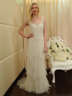 Badgley Mischka (SS 2016) #NYBW #weddingdresses #vestidodenovia #tendenciasdebodas
