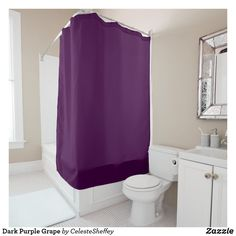 Dark Purple Grape Shower Curtain