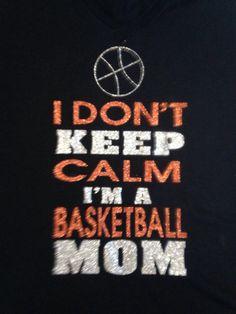 Basketball Mom tshirt by TripleMEmbroidery on Etsy, $22.00 #basketball #mom #keep #calm