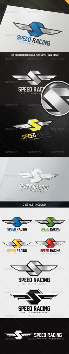 Speed Racing Logo #GraphicRiver This logo design for all creative business. Consulting, Excellent logo,simple and unique concept. Logo Template Features AI and EPS (Illustrator 10 EPS) 300PPI CMYK 100% Scalable Vector Files Easy to edit color / text Ready to print Font information at the help file If you buy and like this logo, please remember to rate it. Thanks! Created: 27May13 GraphicsFilesIncluded: VectorEPS #AIIllustrator Layered: No MinimumAdobeCSVersion: CS Resolution: Resizable Tags…