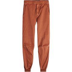 Yeezy Cotton Pants (185.970 CLP) ❤ liked on Polyvore featuring men's fashion, men's clothing, men's pants, men's casual pants, red, mens red pants and mens cotton pants