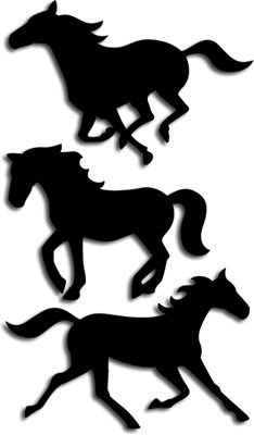 Running Horses - svg file