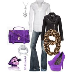 Wintery Purple by tx-redhead on Polyvore