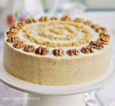 Tort miodowo – orzechowy wielowarstwowy Vanilla Cake, Sweet Recipes, Ale, Cooking Recipes, Pudding, Favorite Recipes, Baking, Breakfast, Polish