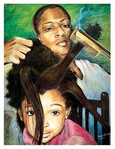 """I remember those days.then I went to the Afro.then came the relaxer.now I want my natural back. Black Love Art, Black Girl Art, My Black Is Beautiful, Black Girls Rock, Art Girl, Black Child, Beautiful Artwork, Beautiful Eyes, Natural Hair Art"