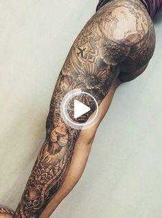 Les #smalltattoos de #legtattoos #tatouagesdecuisses Girl Leg Tattoos, Girls With Sleeve Tattoos, Dope Tattoos, Badass Tattoos, Sleeve Tattoos For Women, Body Art Tattoos, Leg Sleeve Tattoos, Back Tattoo Women Upper, Thigh Sleeve