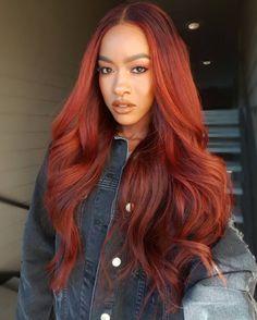 Rainbow Hairstyles Natural Hair hair Hair styles, Hair color black women with red hair - Red Hair Red Hair Color, Cool Hair Color, Color Black, Red Hair Sew In, Nice Hair Colors, Spring Hair Colors, Red Sew In, Weave Hair Color, Wig Hairstyles