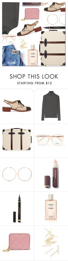 """""""Pack and Go: Winter Getaway"""" by danielle-487 ❤ liked on Polyvore featuring Sam Edelman, La Ligne, Globe-Trotter, Chloé, Anita Ko, Chanel, Gucci and Packandgo"""