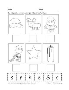 Beginning Sounds (December) 4 pages $