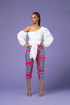 Ginno African Print Pants - Women's style: Patterns of sustainability African Print Pants, African Print Dresses, African Fashion Dresses, African Dress, African Prints, African Outfits, African Clothes, Ankara Fashion, African Fabric