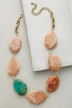 """Agate Path Necklace #anthropologie Dimensions 14""""L, 0.5""""W"""
