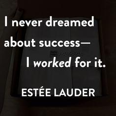 #EsteeLauder #Businessmotivation #noissue #custompackaging Business Motivation, Business Quotes, Artist Quotes, Custom Packaging, Estee Lauder, Online Business, Advice, Success, Branding