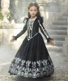 Another great find on #zulily! Skeleton Princess Dress - Girls #zulilyfinds
