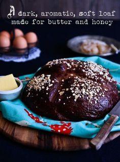 Dark Molasses Oatmeal Bread