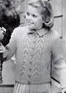 NEW! Cardigan Sweater knit pattern from Fashions & Fun for the Almost Teens, Bernat Handicrafter Book No. 59 from 1957.