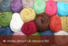 Uk Alpaca, UK Alpaca luxury yarn is manufactured in Britain from the fleeces of Alpacas Farmed in the UK.  ukalpaca.com
