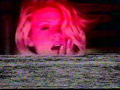Signal interference. † #glitch #video #glitchart #tracking #static #VHS