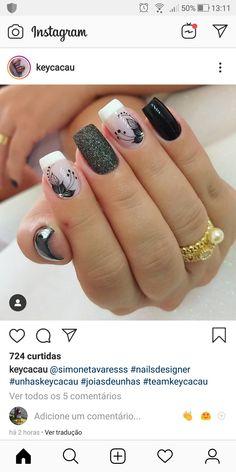 Nail Art Designs 2016, Nail Art Designs Videos, Diy Nail Designs, Nail Polish Designs, Acrylic Nail Designs, Ivy Nails, Brown Nail Art, Fall Acrylic Nails, Pretty Nail Art