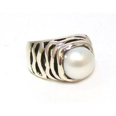 Just Give Me Jewels Sterling Silver June Birthstone Pearl Ring Size 7   So comfy!