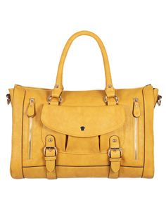 how adorable is this buttery yellow satchel? LOVE!