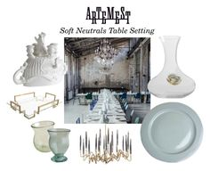 Soft Neutrals Dining by artemest on Polyvore featuring interior, interiors, interior design, Casa, home decor, interior decorating and contemporary