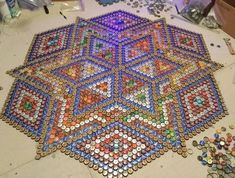 My office / craft room floor was a boring beige carpet. We a little help from friends, family and local pubs, I fixed it. Started with straightening a LOT o… Easy Fall Wreaths, Mesh Wreaths, Wood Look Tile Floor, Modern Plant Stand, Simple Bed, Beige Carpet, Deco Mesh, Decoration, Dollar Stores