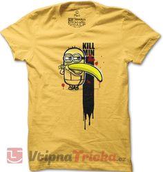 Pánské tričko Kill Bill ve verzi pro Mimoně Kill Bill, Mens Tops, T Shirt, Fashion, Supreme T Shirt, Moda, Tee Shirt, Fashion Styles, Fashion Illustrations