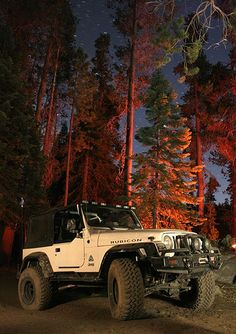 Not a fan of jeeps but this is a pretty sweet pic of a rubicon at night