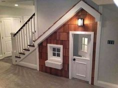 Kids Playhouse Under Stairs