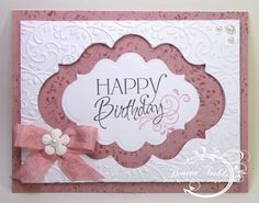 A Path of Paper: Pink Happy Birthday Window Card Birthday Cards For Women, Handmade Birthday Cards, Greeting Cards Handmade, Pink Happy Birthday, Happy Birthday Cards, Card Birthday, Cricut Cards, Stampin Up Cards, 3d Cards