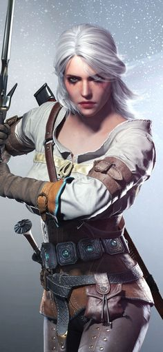 Ciri, The Witcher, video game, artwork, wallpaper games artwork Video Game Characters, Fantasy Characters, Female Characters, Ciri Witcher, Witcher Art, Video Game Costumes, Video Games, Video Game Cosplay, The Witcher Review