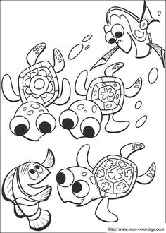 under the sea coloring pages. Nemo  Dory And three cute turtles coloring page from Finding category Select 20946 printable crafts of cartoons nature animals Bible and many Ocean activities FREE under the sea pages Perfect for