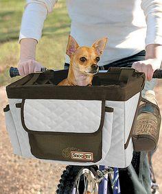Look what I found on #zulily! Grey & Black Pet Bike Basket #zulilyfinds